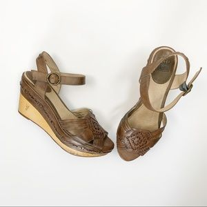 Frye Carlie Huarache Sandal, Brown; woven leather